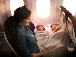 Family in Air New Zealand's Economy Skycouch