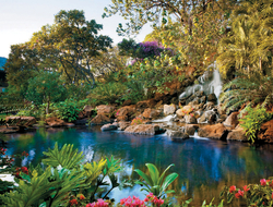 The lush surroundings at Four Seasons Resort Lanai reflect the extraordinary natural beauty of this tiny Hawaiian isle.