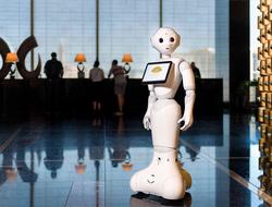 Pepper the hotel robot