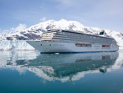Crystal Serenity sailing in Glacier Bay, Alaska