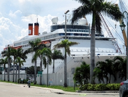 Grand Classica Port of Palm Beach Bahamas Paradise Cruise Line Editorial Use Only By Susan J Young