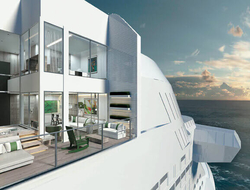Celebrity Edge, a new class of upscale ship for the line, will have six, two-story luxury villas.