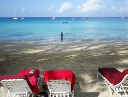 Barbados beach scene Copyright Susan J Young Editorial use only