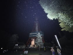 One of city's landmarks, Sapporo TV Tower, is seen in the blackout in the center of Sapporo city, Hokkaido, northern Japan, after Thursday's earthquake.