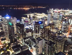 view from Sky Tower, Auckland New Zealand