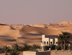 The desert in Abu Dhabi