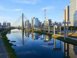 Estaiada Bridge Sao Paulo Brazil