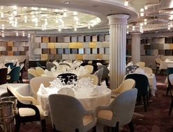 Crystal Serenity Waterside Dining Room Photo by Susan J. Young Editorial Use Only