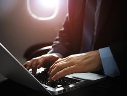 airplane laptop