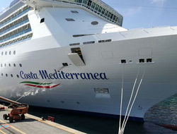 Costa Cruises' new livery on the Costa Mediterranea