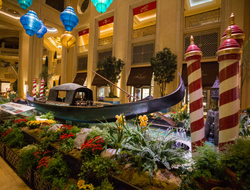 The Venetian Las Vegas Gondola Display