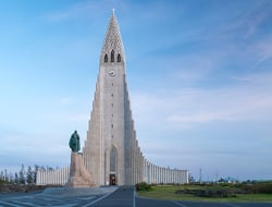 Hallgrimskirkja church in Iceland