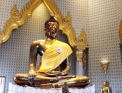 Golden Buddha in Wait Traimit in Bangkok's Chinatown Photo by Susan J Young Editorial Use Only