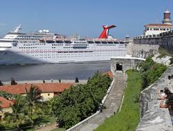 Carnival Paradise docked in Havana Cuba