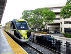 Brightline Train Fort Lauderdale Terminal By Susan J. Young Editorial Use Only