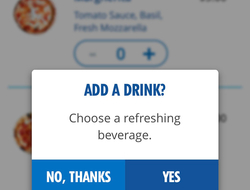 Carnival Hub App Add a Drink Feature