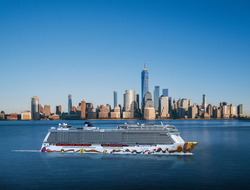 Norwegian Encore Sailing in New York City
