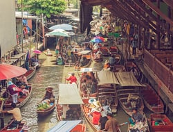 Floating market in Thailand, Bangkok