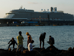 Holland America Line's Westerdam docked in Cambodia