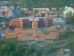 aerial view of NIH campus