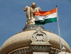India Parliament flag