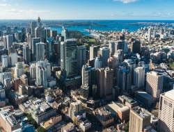Sydney, Australia's business district.
