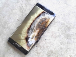 A Note 7 with an exploding battery