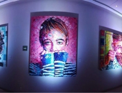 artwork by Peter Terrin at Grand Hyatt Playa del Carmen - editorial only