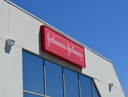J&J logo on building