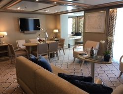 Suite onboard the new Silver Muse
