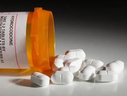 Hydrocodone opioid pills