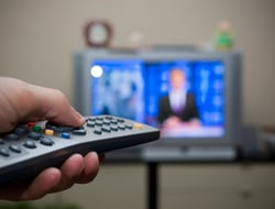 TV and Remote Control Image