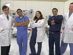 Doctors posing for the camera