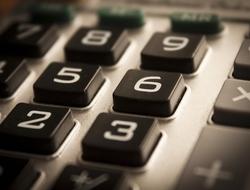 A calculator up close