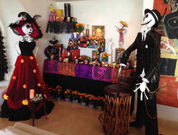 Las Rosadas Day of the Dead altar