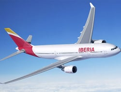 Rendering of Iberia A330 airplane