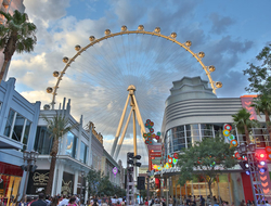 Ground shot of the High Roller, at The LINQ Promenade