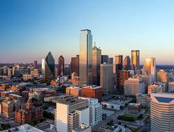 Aerial view of Dallas Texas