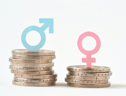 Equal Pay stock photo