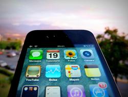 iPhone with horizon