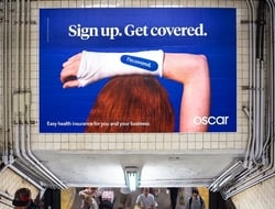 Oscar Insurance subway ad