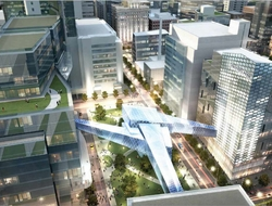 An illustration showing plans for the Destination Medical Center