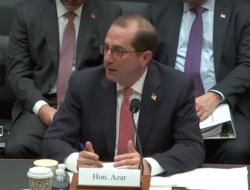 Alex Azar testifying