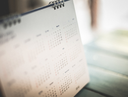 Blurred calendar
