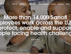 Sanofi new look for web sites