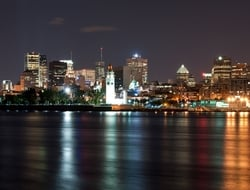Montreal skyline from across the St. Laurent river