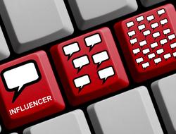 Red keyboard keys influencer marketing