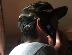 child kid flip phone (Mike Dano / FierceWireless)