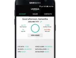 Unreal Mobile MVNO Android app (FreedomPop)