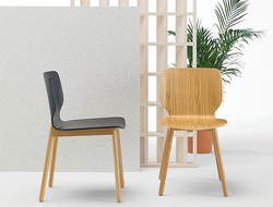 Created by the Spanish Yonoh Studio, Nim's curves were molded ergonomically, making it ideal for various hospitality and corporate environments.